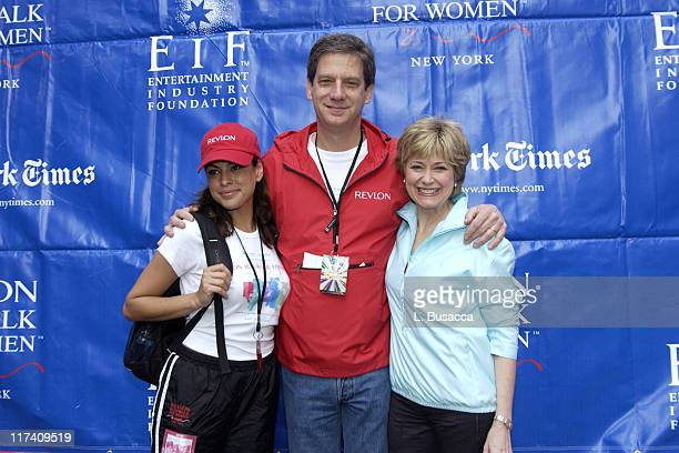 Eva Mendes Jack Stahl president and CEO of Revlon Inc and Jane Pauley