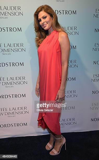 Eva Mendes Launches Estee Lauder New Dimension Skincare At Nordstrom Aventura at Nordstrom Aventura Mall on July 25 2015 in Aventura Florida