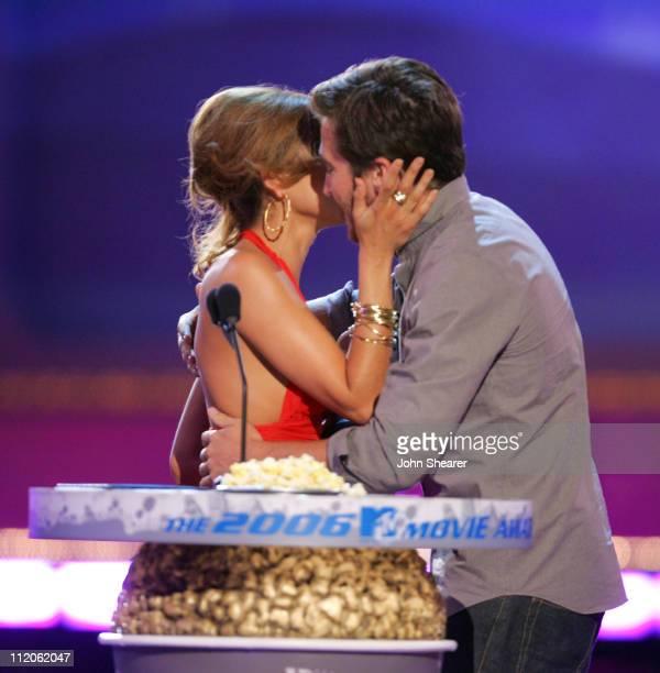Eva Mendes presenter and Jake Gyllenhaal winner of Best Kiss for Brokeback Mountain