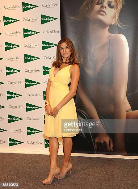 Eva Mendes promotes Calvin Klein's New 'Seductive Comfort' bra line at 'El Corte Ingles' on October 16 2008 in Madrid Spain