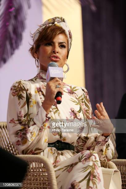 Eva Mendes speaks at Create Cultivate Los Angeles at Rolling Greens Los Angeles on February 22 2020 in Los Angeles California