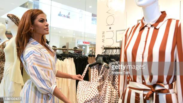 Eva Mendes visits New York Company Store at New York Company on March 15 2019 in Burbank California