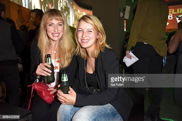 Eva Mona Rodekirchen and Iris Mareike Steen attend the Prelinale Party 2016 on February 10 2016 in Berlin Germany