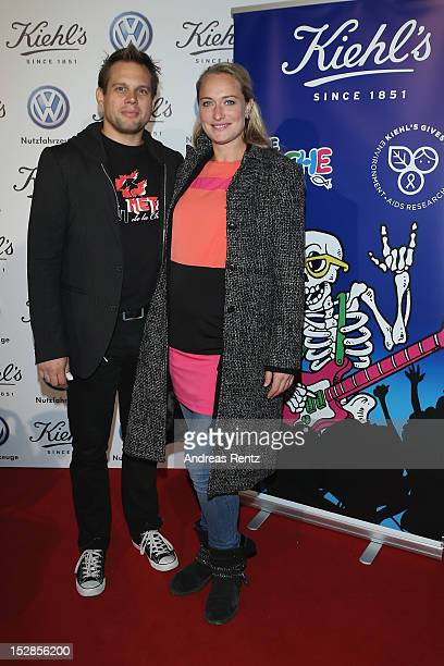 Eva Mona Rodekirchen and partner Bjoern Geske attend the Kiehl's Rocktour charity event in aid of 'Die Arche' on September 27 2012 in Berlin Germany