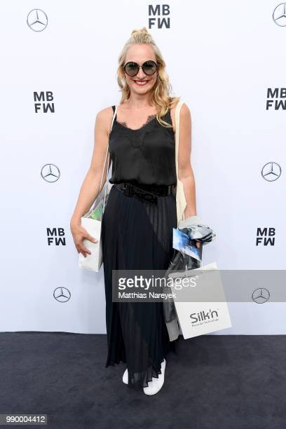 Eva Mona Rodekirchen attends the Guido Maria Kretschmer show during the Berlin Fashion Week Spring/Summer 2019 at ewerk on July 2 2018 in Berlin...