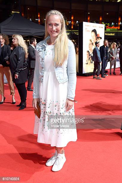 Eva Mona Rodekirchen attends the 'Unsere Zeit ist jetzt' World Premiere at CineStar on September 27 2016 in Berlin Germany