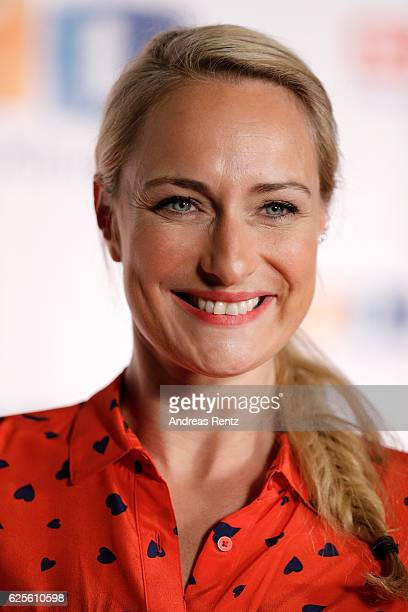 Eva Mona Rodekirchen is seen in the studio of the RTL Telethon TV show on November 24 2016 in Cologne Germany The telethon is held every year and is...