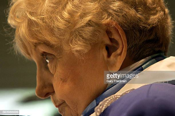 Eva Mozes Kor was the subject of experiments by Dr Joseph Mengele during WWII for the Nazis speaks to the Nachshon Minyan in Encino on Saturday...