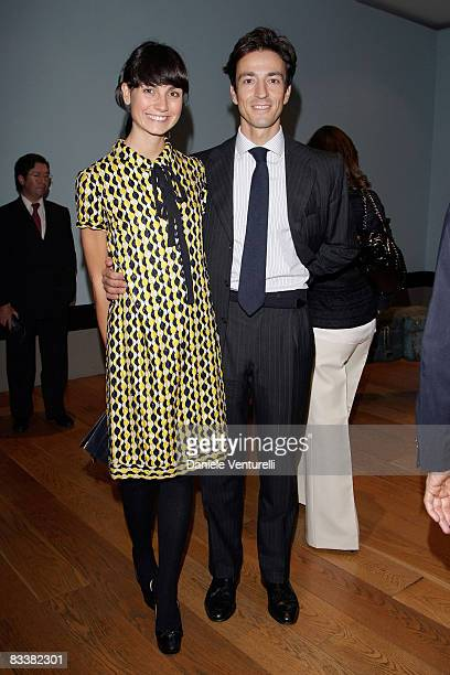 Eva Nasi and Alessandro Nasi attend the 'Why Africa' exhibition opening At the Pinacoteca Giovanni E Marella Agnelli on October 5 2007 in Turin Italy