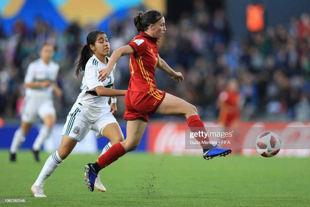 Spain v Mexico - FIFA U-17 Women's World Cup Uruguay 2018 Final : Fotografía de noticias