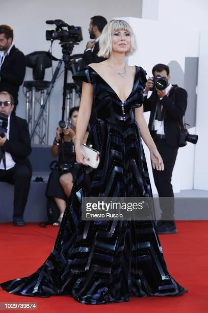Eva Nestori walks the red carpet ahead of the Award Ceremony during the 75th Venice Film Festival at Sala Grande on September 8 2018 in Venice Italy