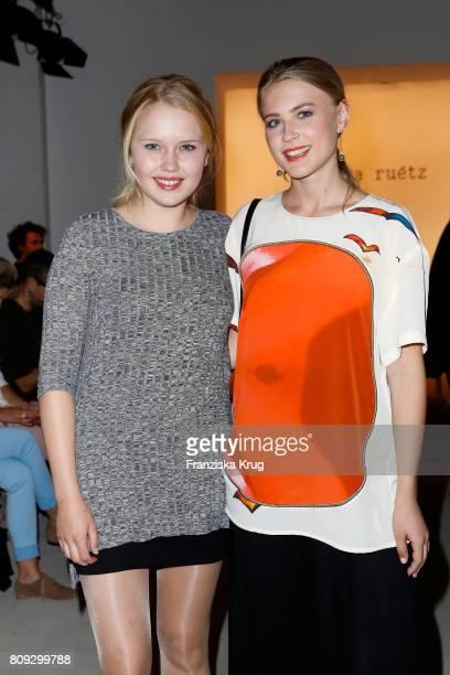 Eva Nuernberg and Jeanne Goursaud attend the Rebekka Ruetz show during the MercedesBenz Fashion Week Berlin Spring/Summer 2018 at Kaufhaus Jandorf on...