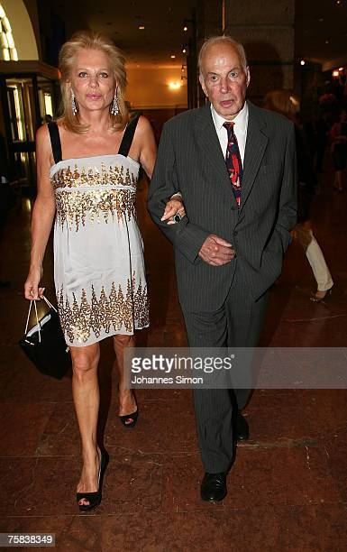 Eva O'Neill and Donald Kahn attend the opening concert of Salzburg summer festival on July 27 2007 in Salzburg Austria