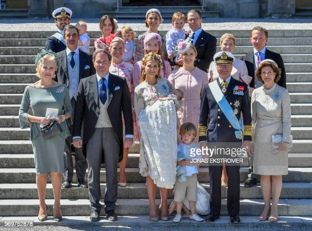 Eva O'Neill Mr Christopher O'Neill princess Madeleine with princess Adrienne of Sweden prince Nicolas of Sweden king Carl Gustaf of Sweden and queen...