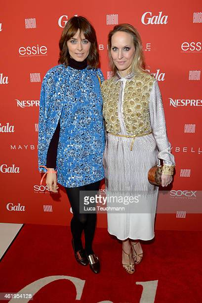 Eva Padberg and Anne MeyerMinnemann attend the GALA Fashion Brunch at Ellington Hotel on January 22 2015 in Berlin Germany