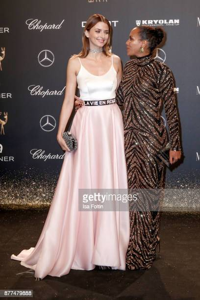 Eva Padberg and Barbara Becker arrive at the Bambi Awards 2017 at Stage Theater on November 16 2017 in Berlin Germany