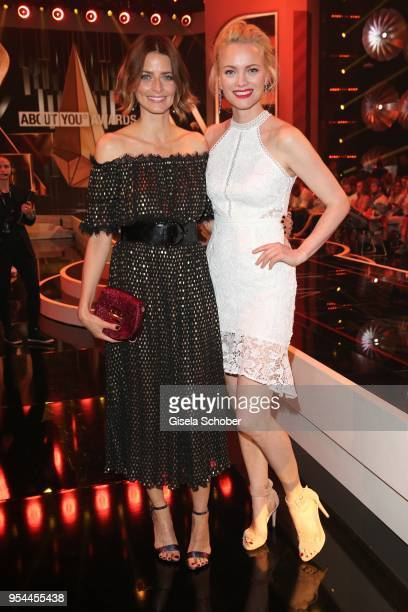 Eva Padberg and Franziska Knuppe during the 2nd ABOUT YOU Awards 2018 at Bavaria Studios on May 3 2018 in Munich Germany