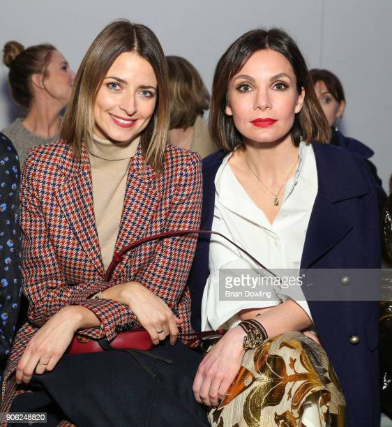 Eva Padberg and Nadine Warmuth attend Odeeh Defile during 'Der Berliner Salon' AW 18/19 on January 17 2018 in Berlin Germany