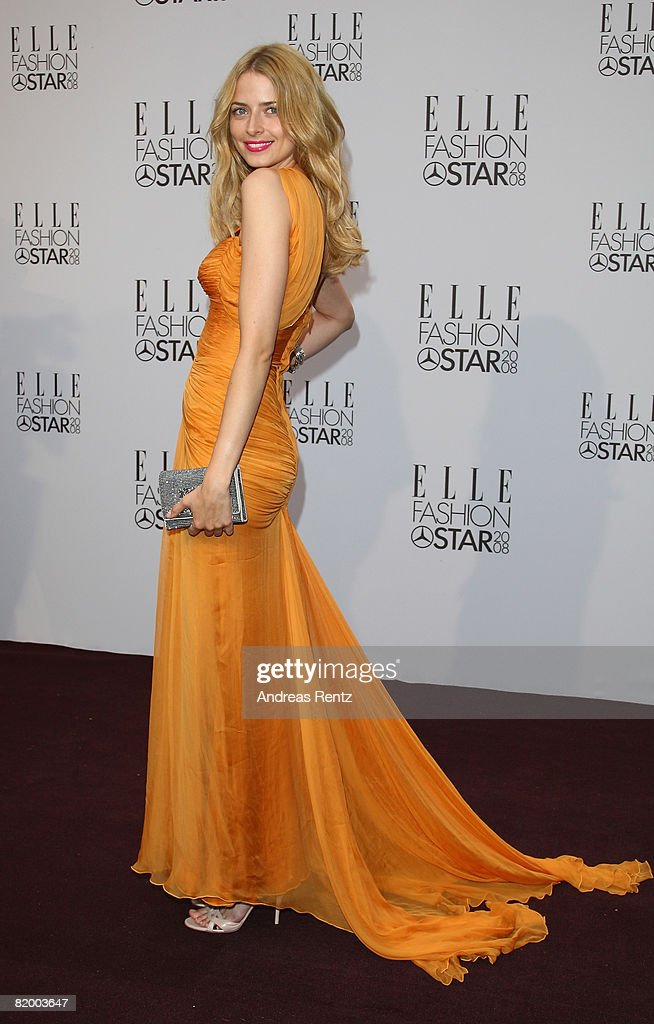Eva Padberg arrives at the ELLE Fashion Star award ceremony during Mercedes Benz Fashion week Spring/Summer 2009 at the Tempodrom on July 19, 2008 in Berlin, Germany.