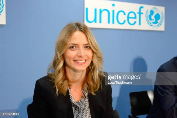 Eva Padberg attends a press conference for 60 Years UNICEF Germany at Federal Press Conference on June 27 2013 in Berlin Germany