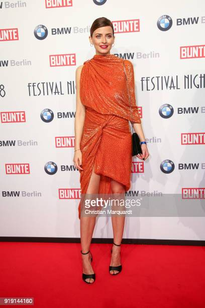 Eva Padberg attends the BUNTE BMW Festival Night on the occasion of the 68th Berlinale International Film Festival Berlin at Restaurant Gendarmerie...