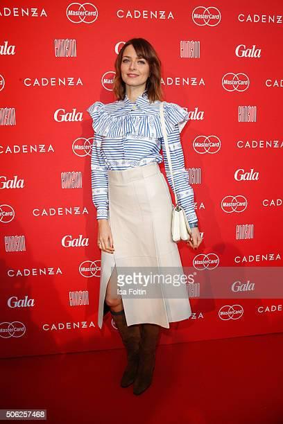 Eva Padberg attends the 'Gala' fashion brunch during the MercedesBenz Fashion Week Berlin Autumn/Winter 2016 at Ellington Hotel on January 22 2016 in...