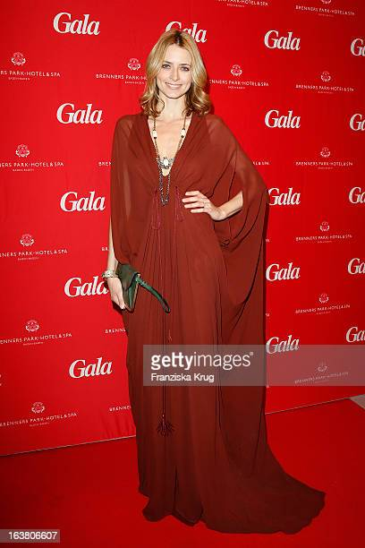Eva Padberg attends the Gala Spa Awards 2013 at the Brenners Park Hotel on March 16 2013 in Berlin Germany