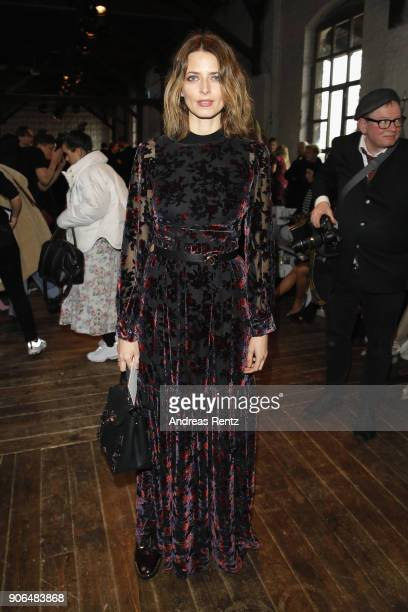 Eva Padberg attends the Marina Hoermanseder Defile during 'Der Berliner Salon' AW 18/19 at Von Greifswald on January 18 2018 in Berlin Germany