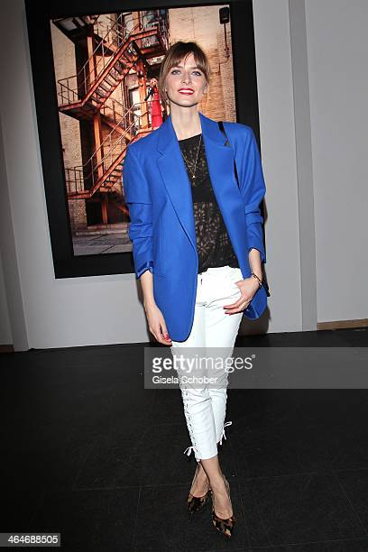 MUNICH GERMANY JANUARY Eva Padberg attends the presentation and vernissage of the calender 'THE ADAM BY BRYAN ADAMS' for Opel at Haus der Kunst on...