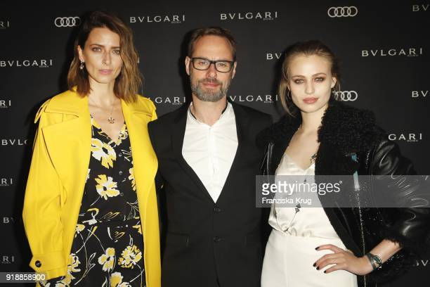 Eva Padberg Bart de Boever and Cosima Auermann during the Bulgari 'RVLE YOUR NIGHT' event during the 68th Berlinale International Film Festival on...