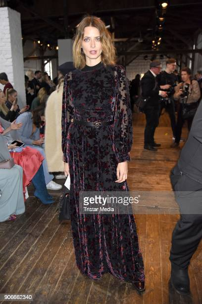 Eva Padberg during the Marina Hoermanseder Defile during 'Der Berliner Salon' AW 18/19 at Von Greifswald on January 18 2018 in Berlin Germany