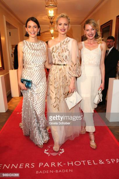 Eva Padberg Franziska Knuppe Princess Lilly zu SaynWittgensteinBerleburgduring the Gala Spa Awards at Brenners ParkHotel Spa on April 14 2018 in...