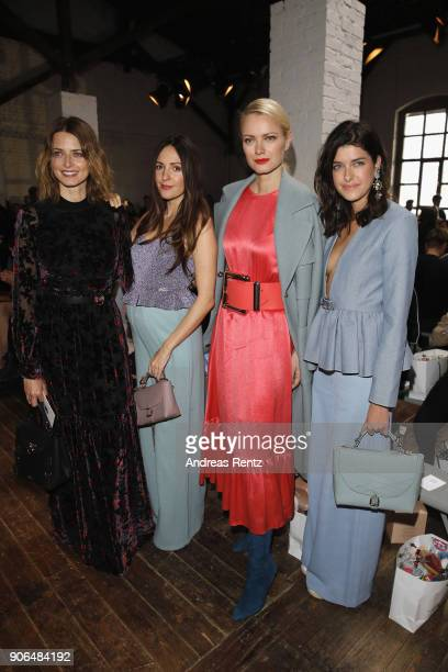 Eva Padberg Johanna Klum Franziska Knuppe and Marie Nasemann attend the Marina Hoermanseder Defile during 'Der Berliner Salon' AW 18/19 at Von...
