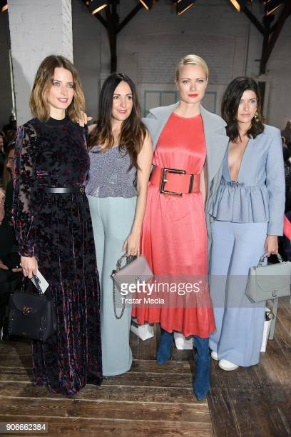 Eva Padberg Johanna Klum Franziska Knuppe and Marie Nasemann during the Marina Hoermanseder Defile during 'Der Berliner Salon' AW 18/19 at Von...