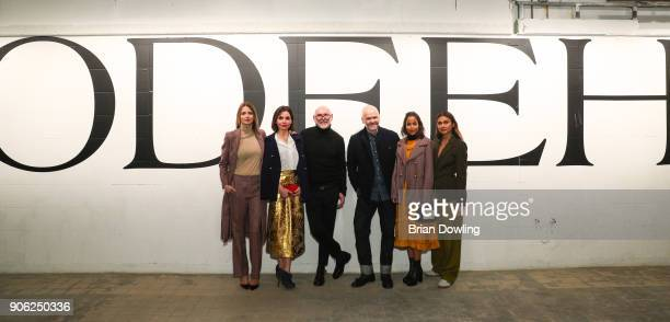 Eva Padberg Nadine Warmuth Otto Droeglser Joerg Ehrlich Rabea Schif and Wana Limar at Odeeh Defile during 'Der Berliner Salon' AW 18/19 on January 17...