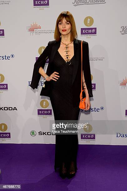 Eva Padberg wearing a dress and blazer by HM Conscious Exclusive attends the Echo Award 2015 Red Carpet Arrivals on March 26 2015 in Berlin Germany