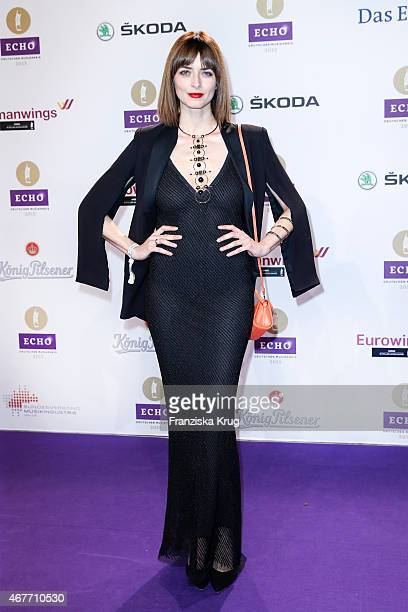 Eva Padberg wearing a dress from HM attends the Echo Award 2015 on March 26 2015 in Berlin Germany