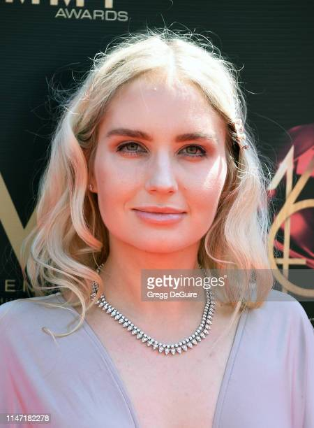 Eva Paris Cicinyte attends the 46th annual Daytime Emmy Awards at Pasadena Civic Center on May 05 2019 in Pasadena California