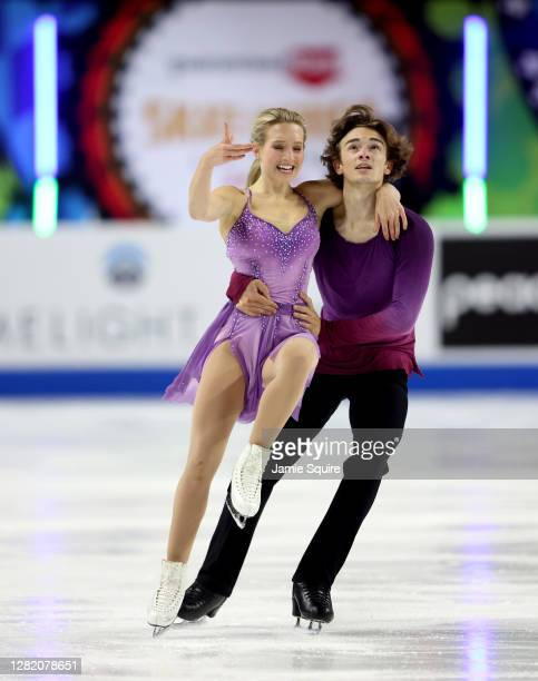 Eva Pate and Logan Bye of the USA compete in the Ice Dance Free Skating program during the ISU Grand Prix of Figure Skating at the Orleans Arena on...