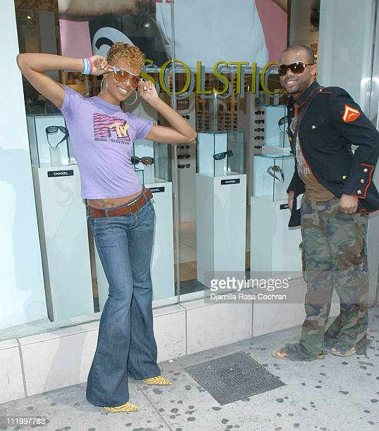 Eva Pigford and Terrell Mullin during Covergirl Eva Pigford America's Next Top Model at Solstice at Solstice 34th Street in New York City New York...