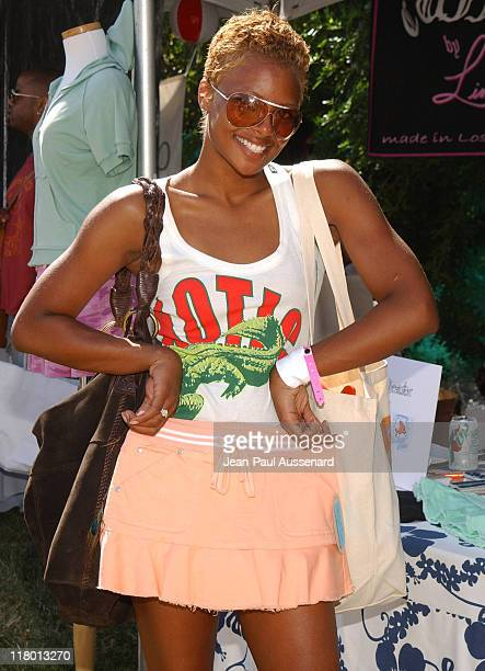 Eva Pigford at Be Bop during Silver Spoon Hollywood Buffet Day 2 in Los Angeles California United States Photo by JeanPaul Aussenard/WireImage for...