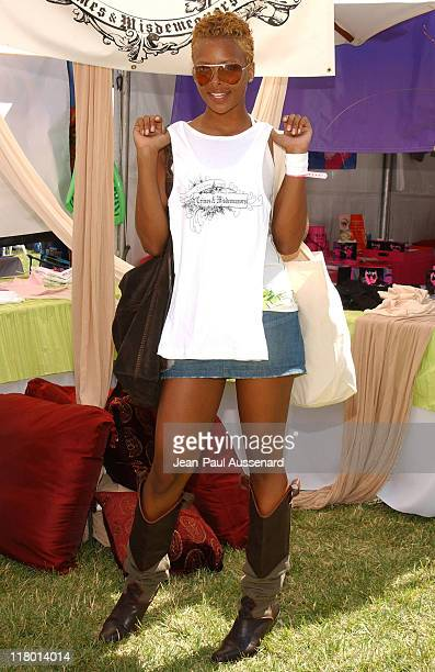 Eva Pigford at Crimes and Misdemeanors during Silver Spoon Hollywood Buffet Day 2 in Los Angeles California United States Photo by JeanPaul...