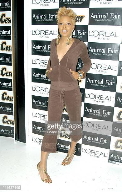Eva Pigford during Animal Fair Magazine's 6th Annual 'PAWS FOR STYLE' Benefit for the Humane Society Of New York at EXIT in New York City NY United...
