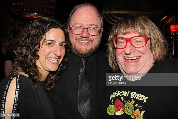 Eva Price Rupert Holmes and Bruce Villanch attend the I'll Eat You Last A Chat With Sue Mengers Broadway opening night afterparty at The Russian Tea...