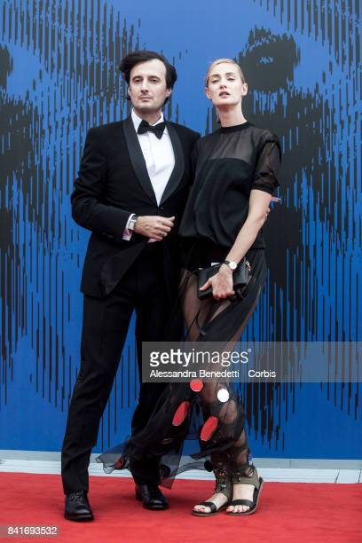 Eva Riccobono and Matteo Ceccarini attend the The Franca Sozzani Award during the 74th Venice Film Festival at Sala Giardino on September 1 2017 in...