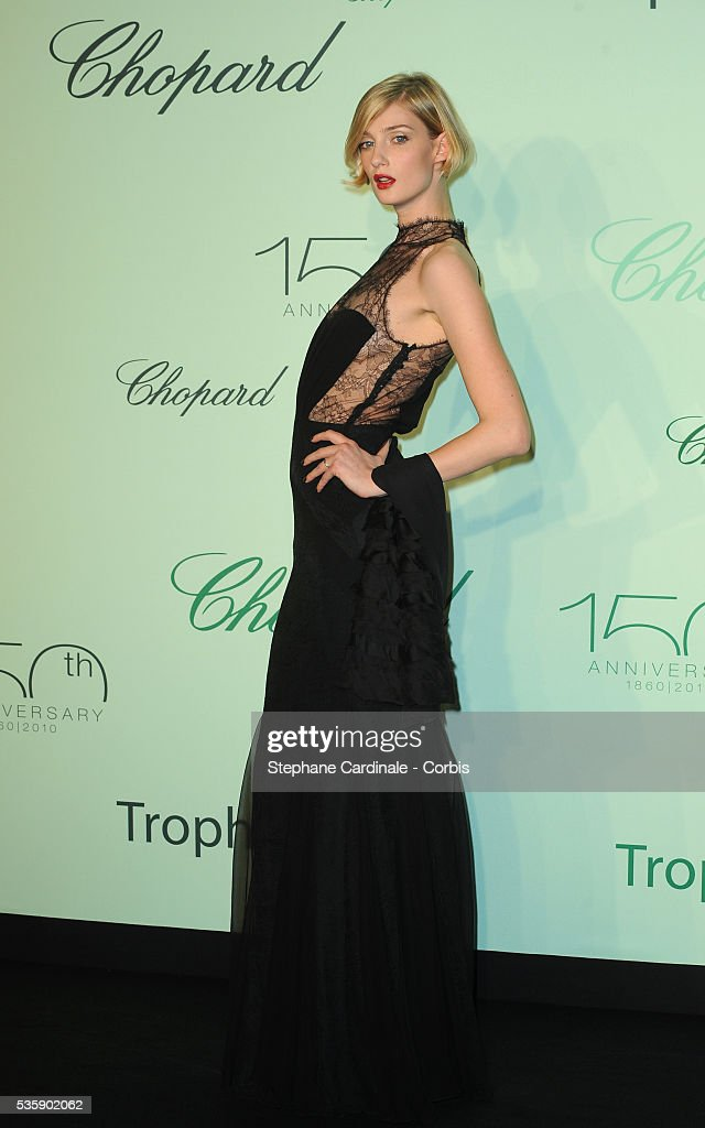 Eva Riccobono at the Chopard Trophy during the 63rd Cannes International Film Festival.
