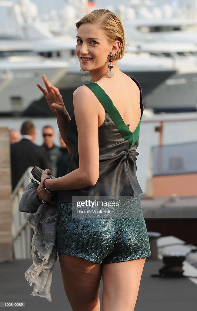 Eva Riccobono attends the Fair Game Cocktail Party hosted by Giorgio Armani held aboard his boat 'Main' during the 63rd Annual International Cannes Film Festival on May 19, 2010 in Cannes, France.