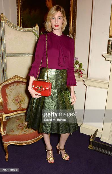 Eva Riccobono attends the Gucci party at 106 Piccadilly in celebration of the Gucci Cruise 2017 fashion show on June 2 2016 in London England