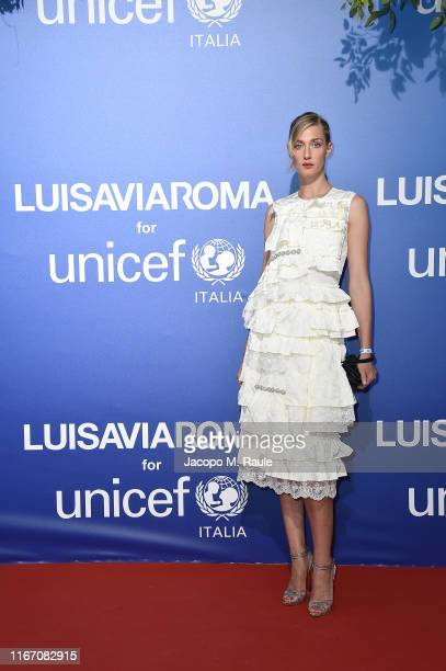 Eva Riccobono attends the photocall at the Unicef Summer Gala Presented by Luisaviaroma at on August 09 2019 in Porto Cervo Italy