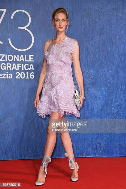 Eva Riccobono attends the premiere of 'Franca: Chaos And Creation' during the 73rd Venice Film Festival at Sala Giardino on September 2, 2016 in...